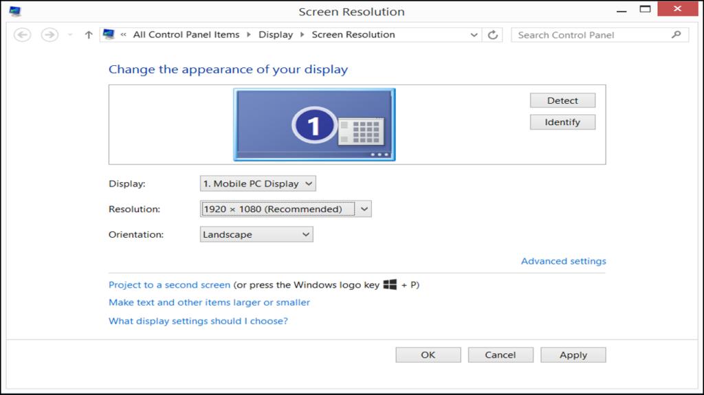 كيفية تعديل شاشة الكمبيوتر المقلوبة ويندوز 8 ؟