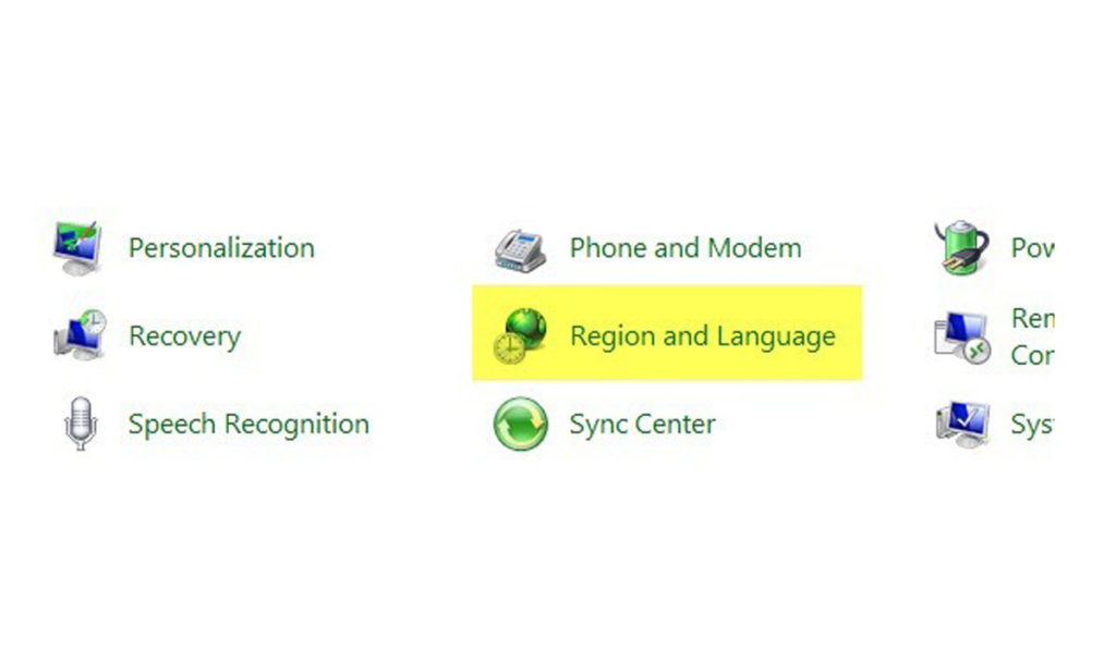 كيفية تغيير لغة لوحة المفاتيح في Windows 7 .