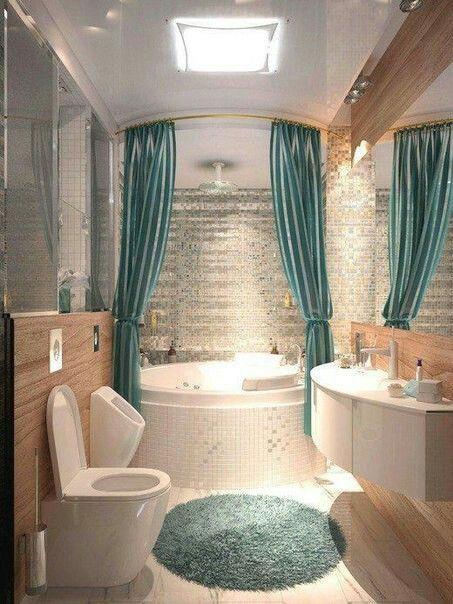 أحدث موديلات الستائر للحمام