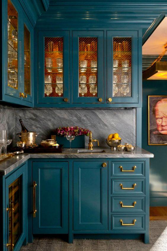 ألوان ديكورات داخل المطبخ 2021