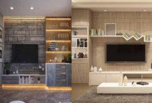 ديكورات شاشات التلفاز في غرفة المعيشة