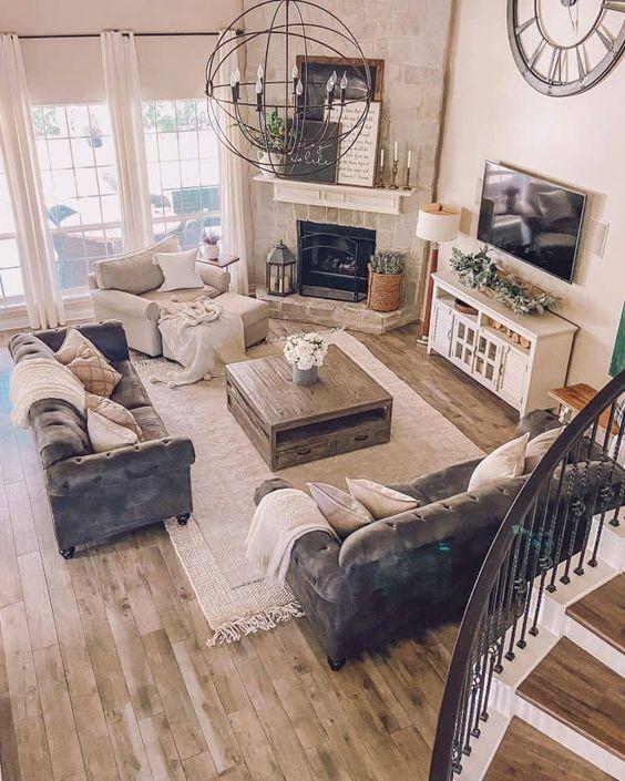 ديكور ركن التلفزيون مناسبة لغرفة المعيشة