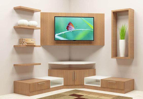 وضع التلفزيون داخل غرفة المعيشة