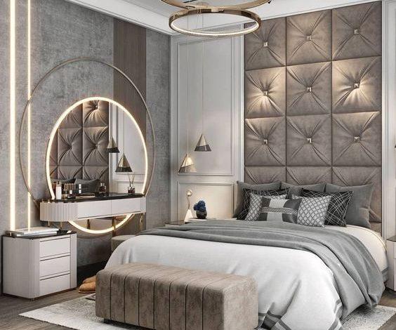 كيفية اختيار غرف نوم مودرين صغيرة المساحة للعرسان لديكور مميز في 2021؟