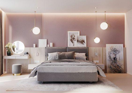 كيفية اختيار غرف نوم مودرين صغيرة المساحة للعرسان لديكور مميز في 2021؟ 1