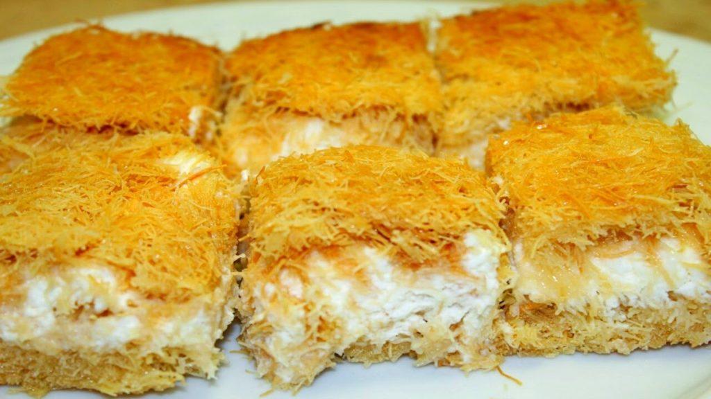 طريقة عمل الكنافة بالمهلبية ضمن حلويات رمضان