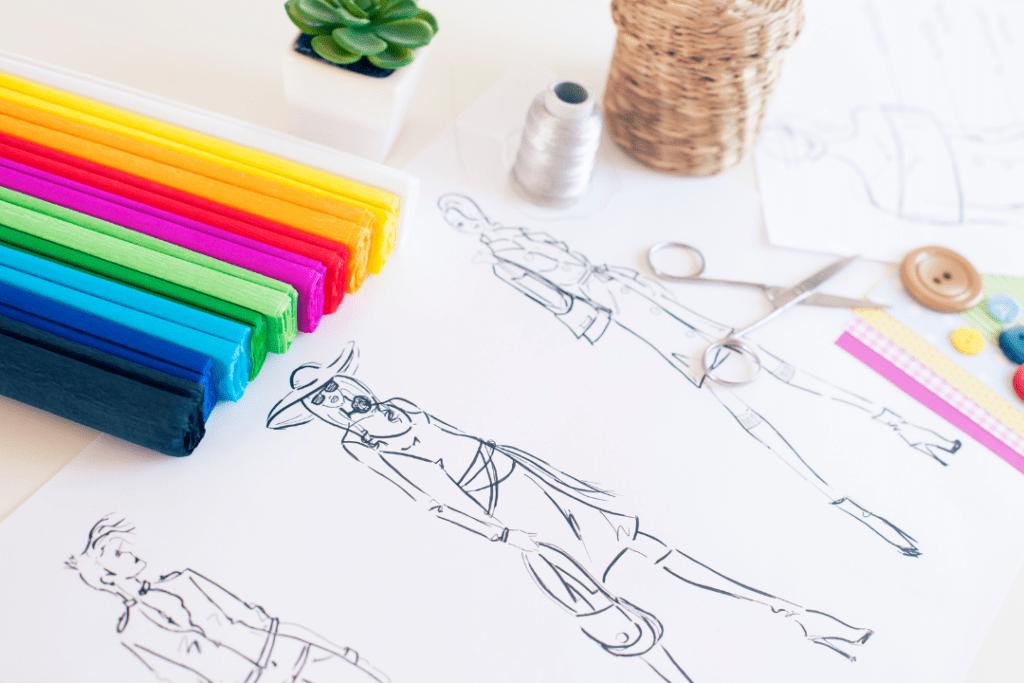تعلم رسم تصميم الازياء